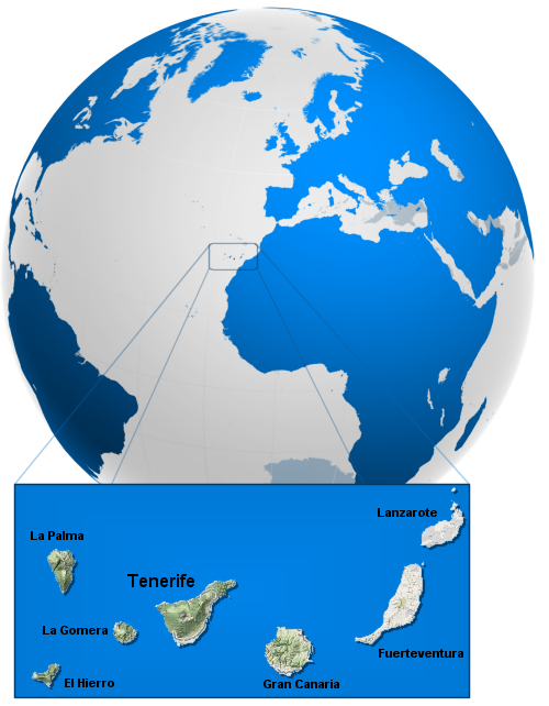 tenerife world map